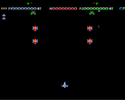 Deluxe Galaga Amiga Public Domain Screen Shot
