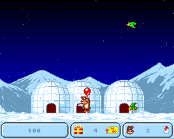 Santa and Rudolph Amiga Public Domain Screen Shot