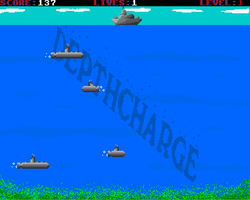 Depth Charge Amiga Public Domain Screen Shot