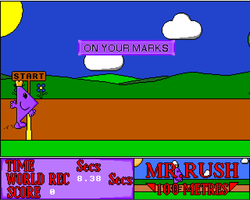 Mr Men OPlympics Screenshot Amiga Public Domain