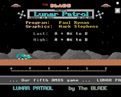 Moon Patrol Screenshot Amiga Public Domain